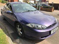 Ford Cougar V6 2495cc Petrol 5 speed manual 3 door hatchback X Reg 24/01/2001 Blue