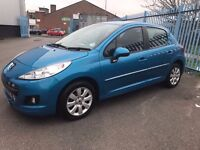 Peugeot 207 1.4 Active 5dr- GURANTEED MILEAGE- 1 YEAR MOT-3MONTHS WARRANTY- EXCELLENT NEW CAR