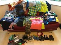 Large Bundle of Boys Clothes Age 5-6. Over 50 items. Lots of Next also Mini Boden,Converse,CrocsVGC
