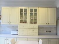 Used Buttermilk Kitchen units and appliances in good condition, all available from mid January