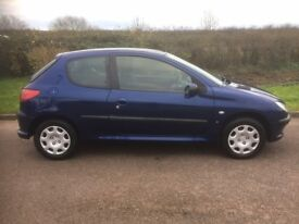 2006 Peugeot 206 Manual 3Doorr With 12 Month MOT PX Welcome