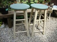 Two Solid Timber Stools.