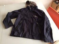 Boys lightweight dark blue Timberland jacket. Age 10/140cm