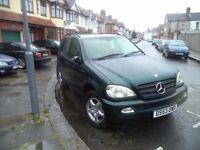 Mercedes Benz ML 270 Auto - Green Metallic 2004 Bargain £2700