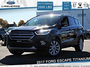 2017 Ford Escape TITANIUM**AWD*CUIR*TOIT* NAVI*CAMERA*BLUETOOTH*