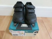 Brand New in Box Boys Clarks Black Leather Shoes Size 12G