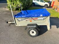 Erde 122 Car Trailer with cover & lock