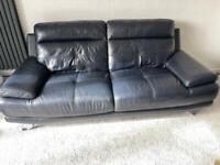 Modern Full Leather 3 piece suite