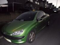 peugeot 206cc in great condition no leaks in roof leather interior