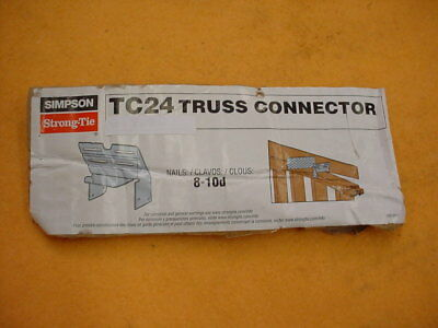 Simpson Strong Tie Tc24 Truss Connectors. Pack Of 15