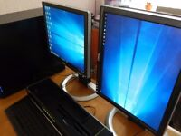 """DELL 1707FPV 17"""" MONITOR PAIR X2 EXCELLENT CONDITION, HEIGHT&ROTATE ADJUST"""