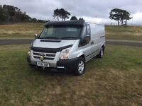 61 plate Transit MWB 125bhp,T350,(NO VAT)Sat Nav all the extras,twin side doors with window
