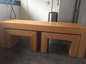 Next solid nest of tables -Vale of Glam