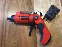 Black and Decker electric screwdriver
