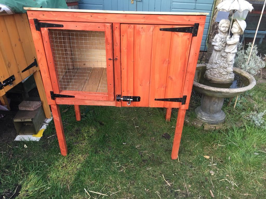 pawhut hutches size rabbit hutch new house wooden x pet supplies cm