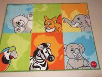 New Animal Nursery Rug 100 x 120 cms