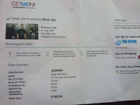 blink 182 two tickets available