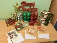 Christmas tree + lights and ornaments