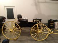 Antique spindle back runabout carriage