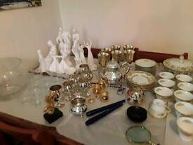 Wedgwood,Royal Doulton, Royal Worcester, silver plate, glassware