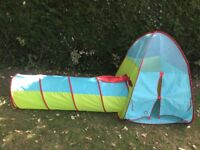 Kids play tent and tunnel
