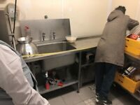 Stainless steel sink x2