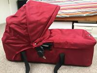 Baby jogger city mini carrycot bassinet red, like new