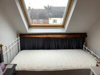 Beautiful single bed frame and mattress for sale