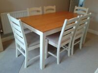 Dining/Kitchen Table and six chairs
