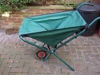 Colapsable wheelbarrow