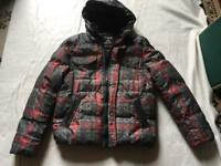 TRK traffik ladies puffy padded hoody jacket full zipper size L/14 used ex condition £10