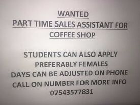 Sales Assistant Needed for Warwick Coffee Shop