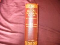 RARE VINTAGE VERY LARGE 19th cent BOOK ON COOKERY M.A. FAIRCLOUGH