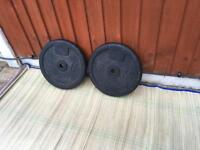2x 20kg Domyos Cast Iron Weights Plates