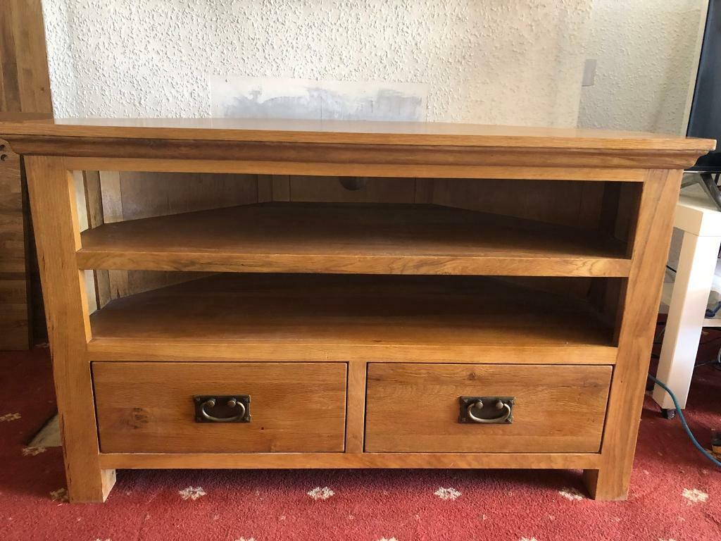 the latest cf02c 57573 Dunelm Dorchester oak tv unit corner and lamp table | in Rainham, Kent |  Gumtree