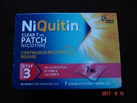 NIQuitin clear 7mg nicotine patch. step 3.Last step before giving up.