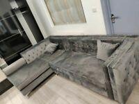 🔵💖🔴PREMIUM QUALITY🔵💖🔴Florence sofa-plush velvet left/right hand corner sofa-in grey color⭐️