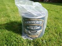 Hammerite 'Direct To Rust' Smooth Black Paint, NEW & UNUSED, 2.5L