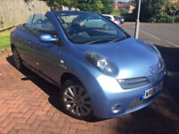 "Nissan micra cc essenza limited edition convertible 2006 ""06"" MOT ONE YEAR Panoramic glass roof"
