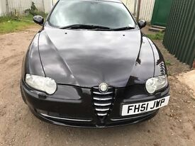 Alfa Romeo 147 black front bumper - breaking parts