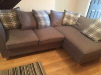 Corner Sofa for sale grey, 10 months old. selling due to moving.