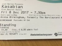 Kasabian tickets x 2 standing for sale 8th Dec Birmingham Arena