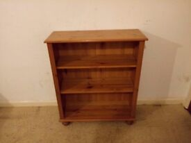 Small Solid Wooden Pine Bookcase Cabinet DVD Rack Storage Unit