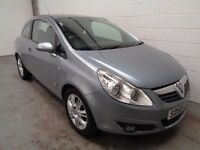 VAUXHALL CORSA DESIGN . 2008/58 REG , ONLY 54000 MILES + HISTORY , YEARS MOT , FINANCE , WARRANTY