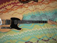 Custom made Telecaster style guitar with hard case