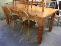Huge and Chunky Farmhouse table 6ft