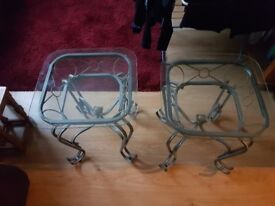 2x Glass table - perfect condition