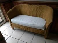 Small cane sofa