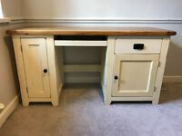 Solid oak painted desk