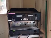 Catering Equipment for Sale ( Coffee Machine GAGGIA D90, Coffee Grinder Machine , Hot Counter)